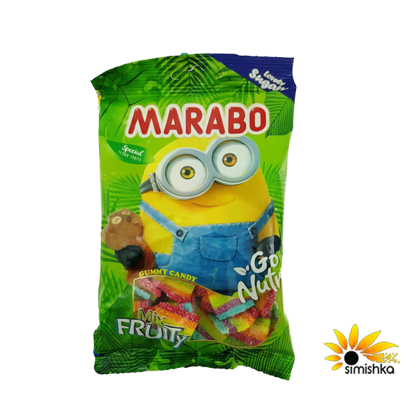 پاستیل لقمه ای شکری میوه ای مخلوط مارابو(1)